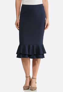 Ruffled Ponte Skirt