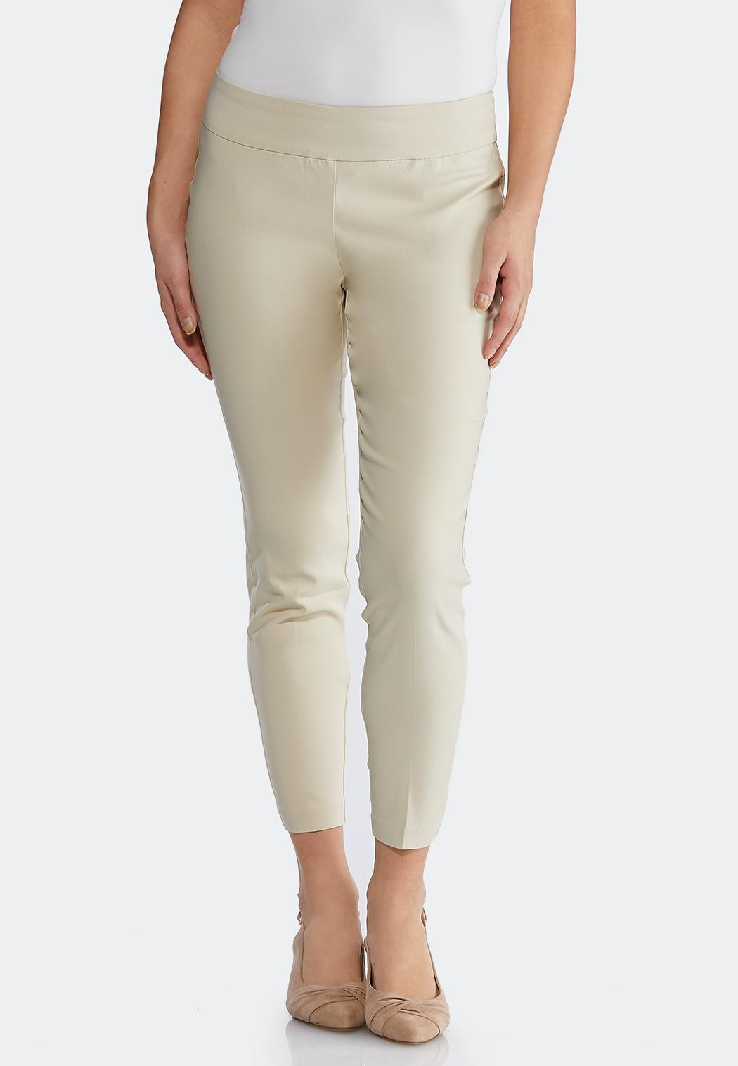 Petite Solid Bengaline Ankle Pants