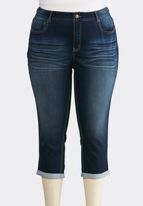 Plus Extended Cropped Skinny Jeans