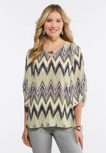 Embellished Chevron Top