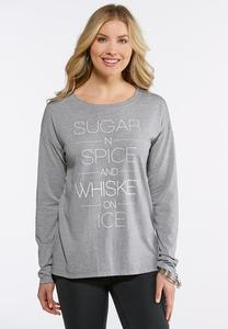 Plus Size Sugar And Spice Tee