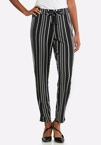 Contrast Dotted Stripe Pants
