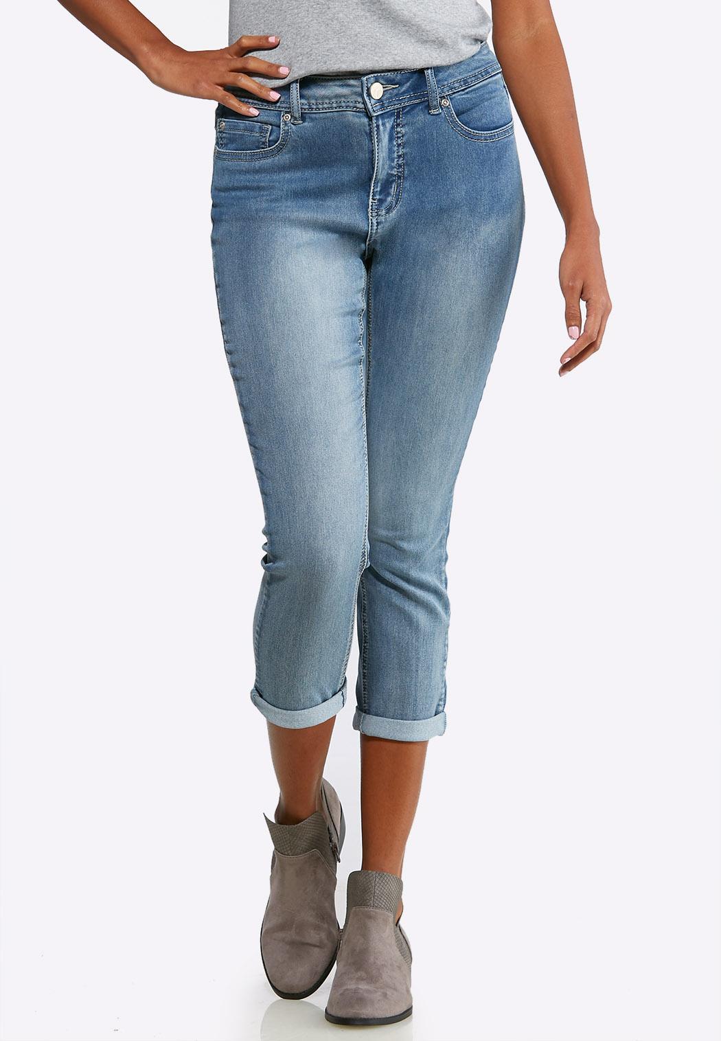 Shape Enhancing Skinny Cropped Jeans