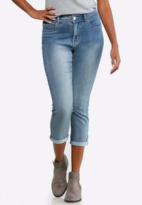 Shape Enhancing Skinny Cropped Jeans