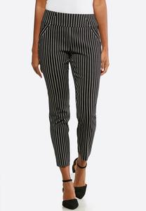 Contrast Stripe Pull-On Pants