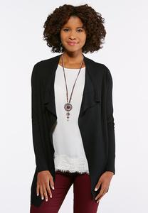 Plus Size Draped Cardigan Sweater