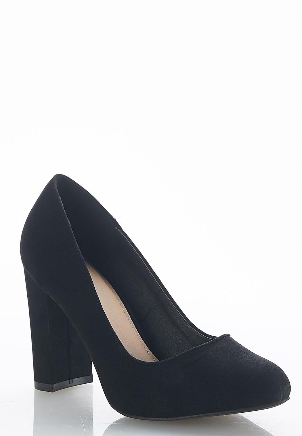 e0d0ef73dea Wide Width Block Heel Pumps Heels Cato Fashions