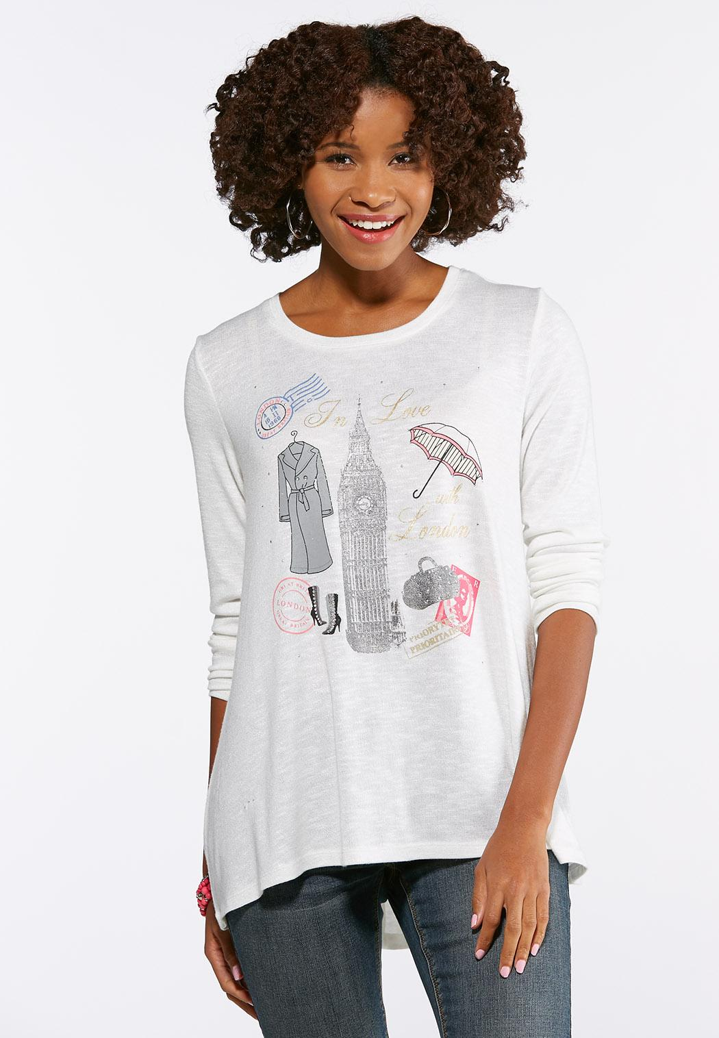 be25cda0d78 Plus Size London Hacci Swing Top Graphic Tees Cato Fashions