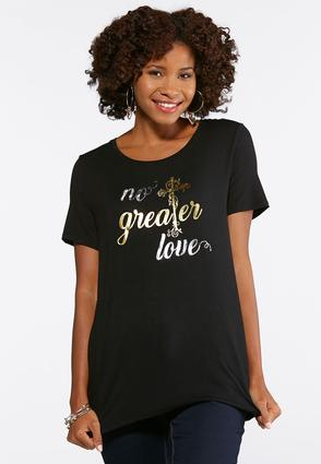 Plus Size No Greater Love Tee