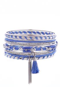 Thread Wrapped Multi Color Bangle Set
