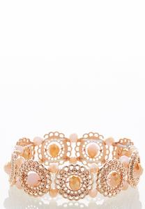 Rose Gold Filigree Stretch Bracelet
