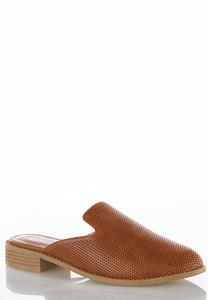Perforated Slip-On Mules