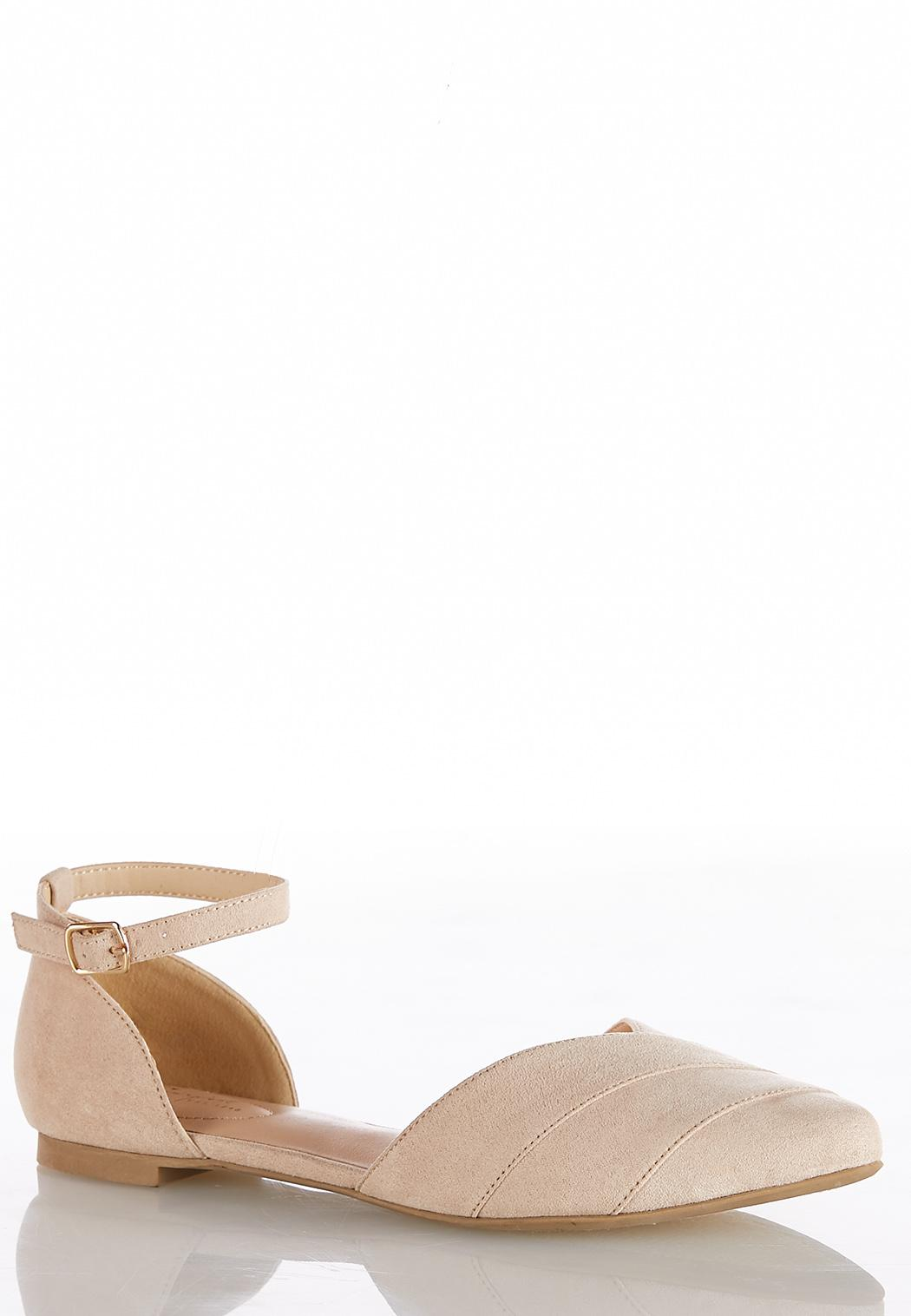Ankle Strap Two Piece Flats