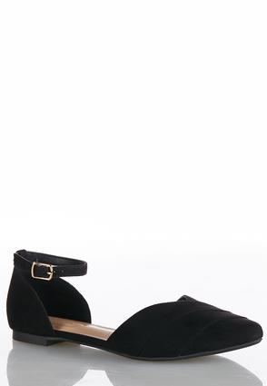 Wide Width Ankle Strap Two Piece Flats