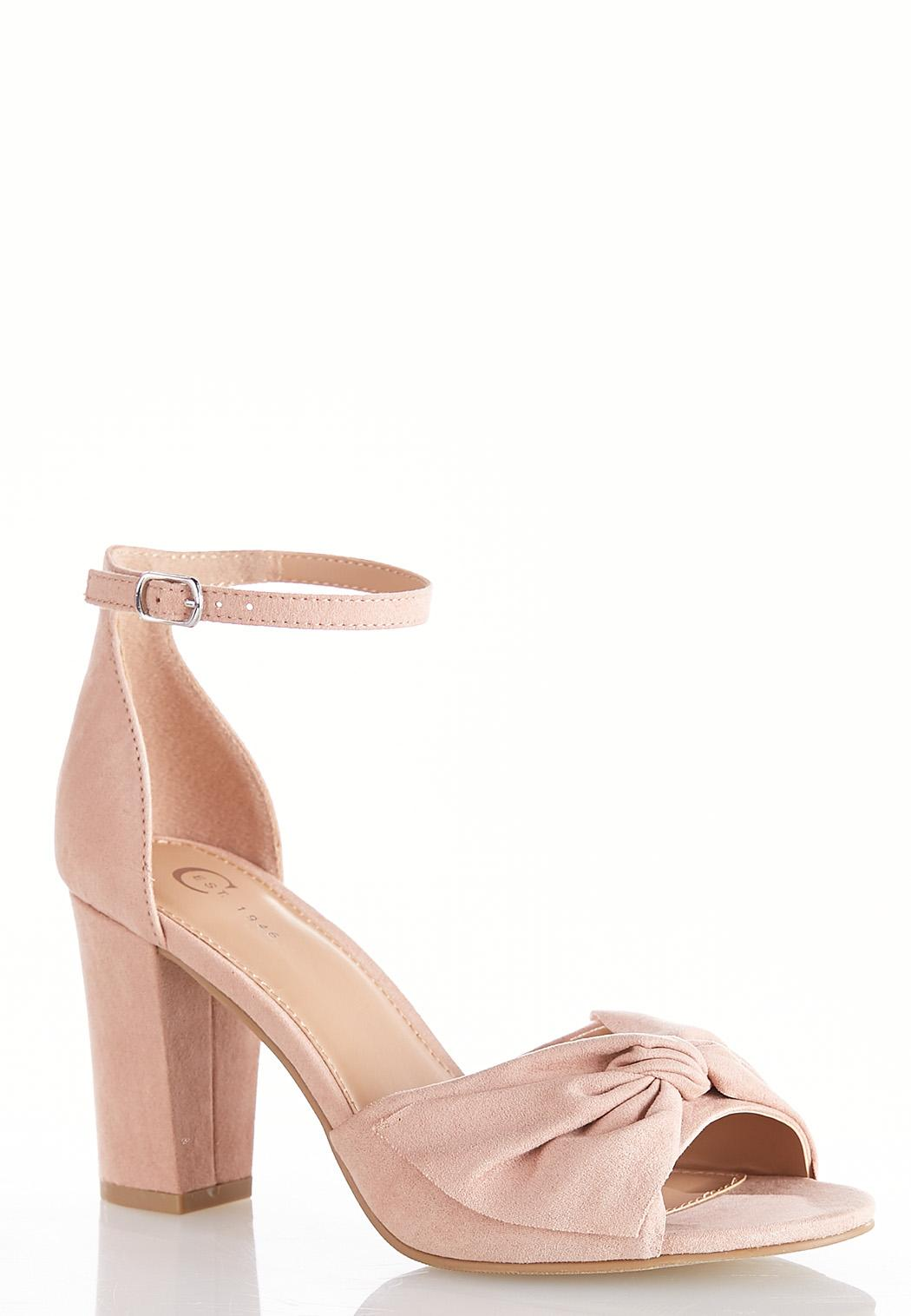 Bow Vamp Heeled Sandals