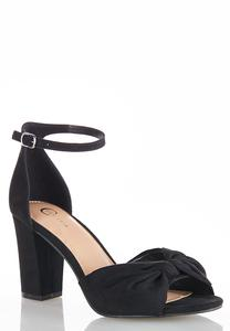 Bow Vamp Heeled Sandals