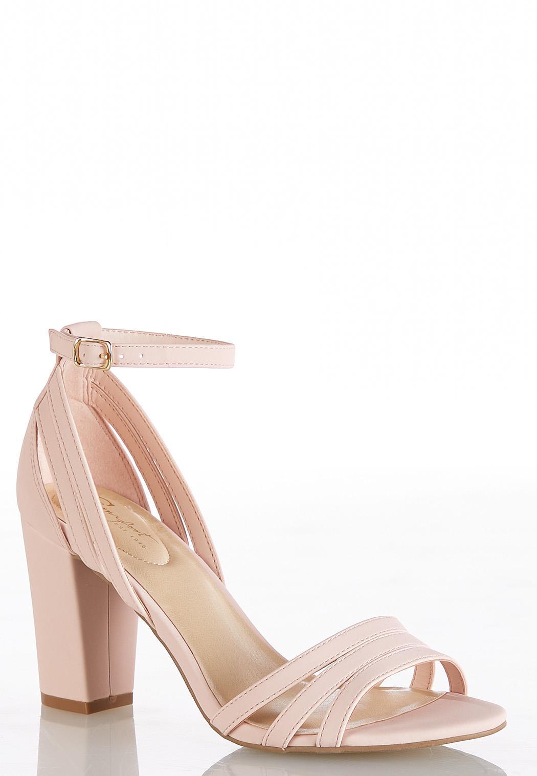 Wide Width Multi Strap Heeled Sandals
