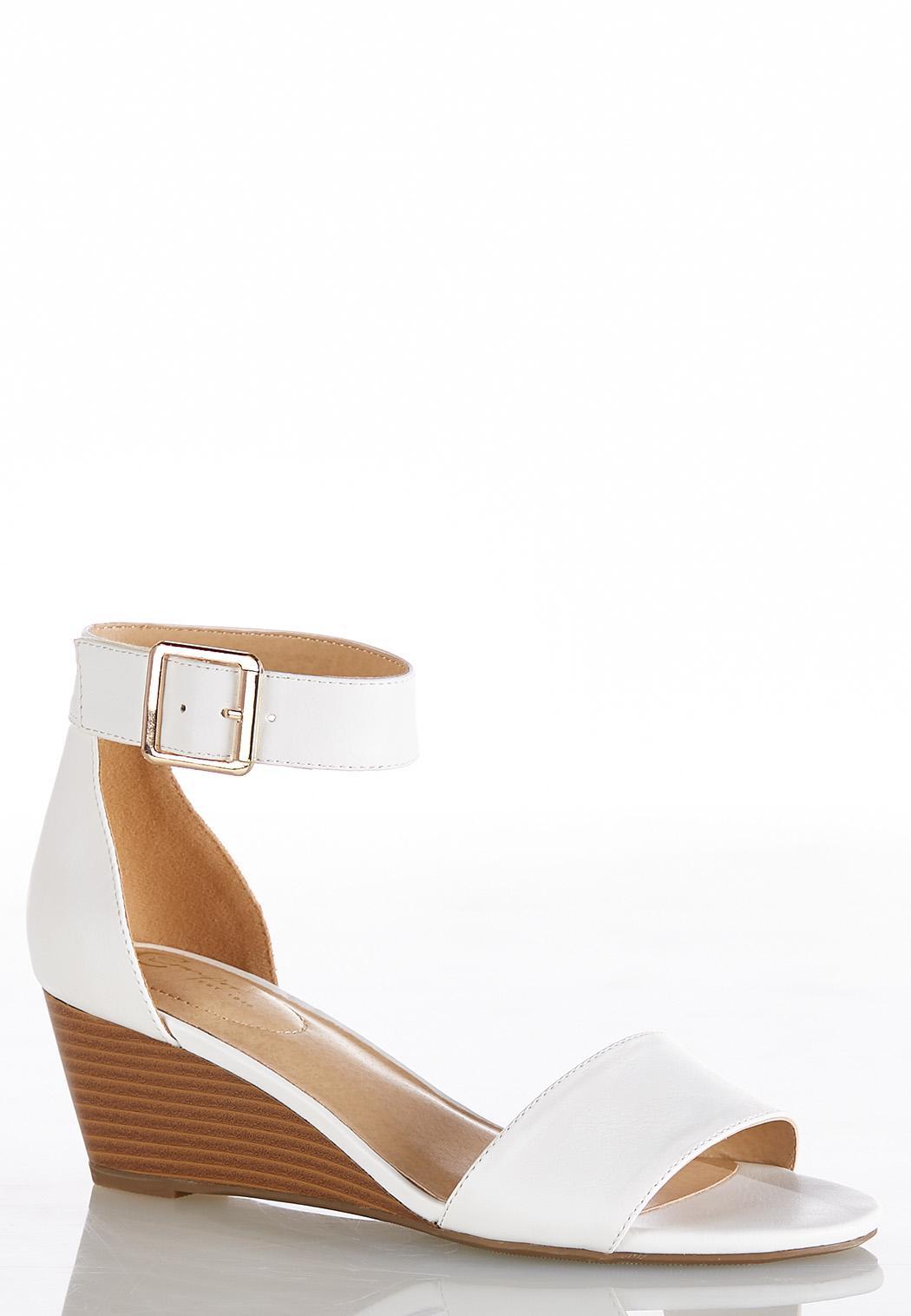 Ankle Strap Wedge Heels