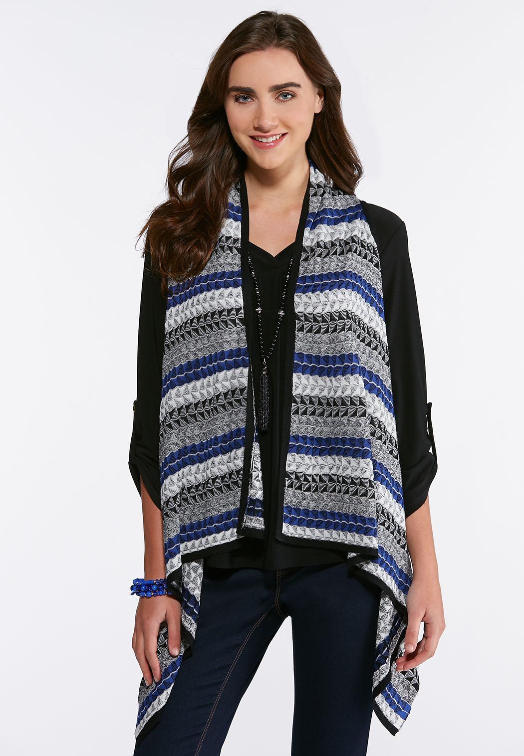 Plus Size Tri-Stitch Sweater Vest