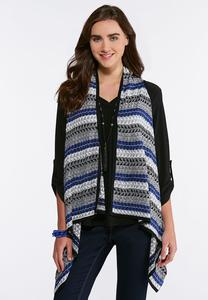 Plus Size Tri-Stitch Sweater Vest