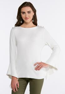 Plus Size Angled Sleeve Sweater