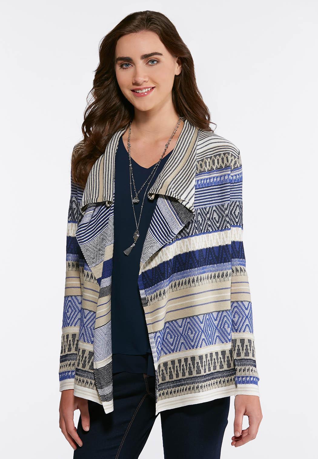 Mixed Stripe Aztec Cardigan