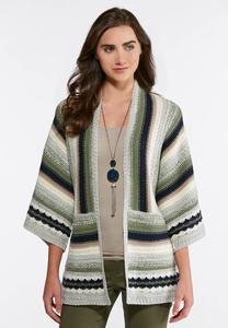 Dolman Sleeve Cardigan Sweater