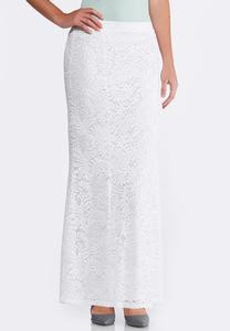 Plus Size Lace Mermaid Maxi Skirt