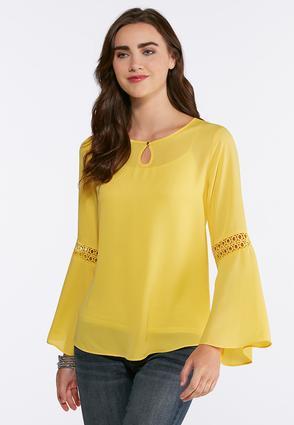 Plus Size Lace Trim Poet Top