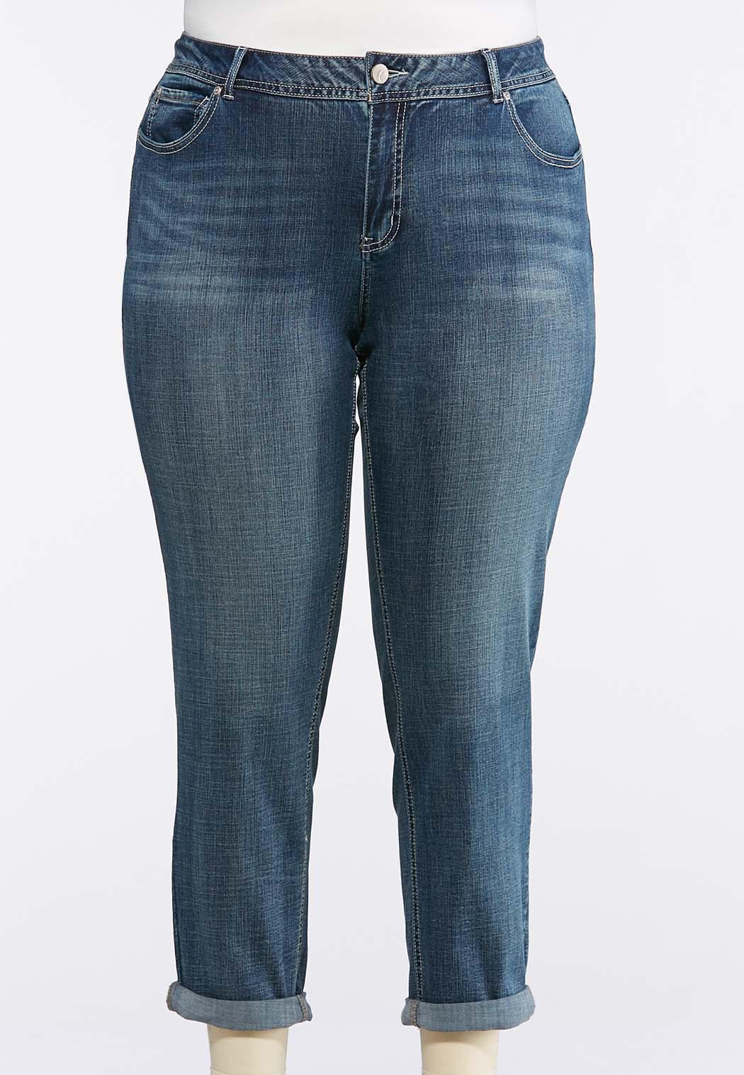 Plus Petite Light Wash Skinny Ankle Jeans