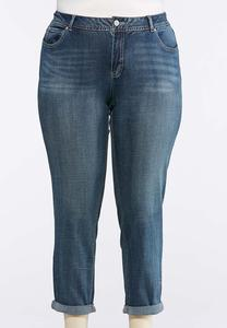 Plus Petite Light Wash Skinny Ankle Jeans