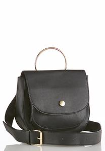 Flap Closure Ring Crossbody