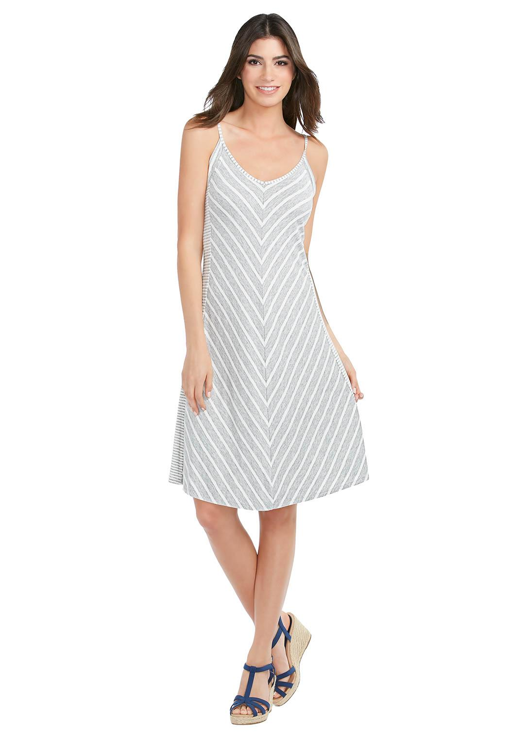 Catofashions.com Dresses Chevron Striped Dresses