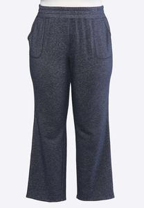 Plus Size Navy French Terry Pants