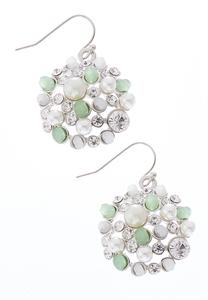 Pearl Cluster Cap Earrings