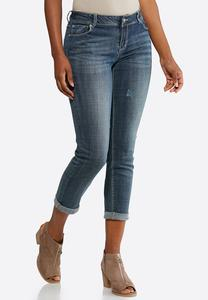 Light Wash Skinny Ankle Jeans