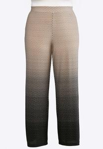 Plus Size Ombre Dotted Palazzo Pants