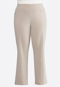 Plus Size Twill Pintuck Pants