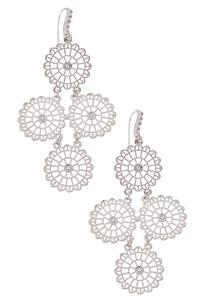 Lace Medallion Dangle Earrings