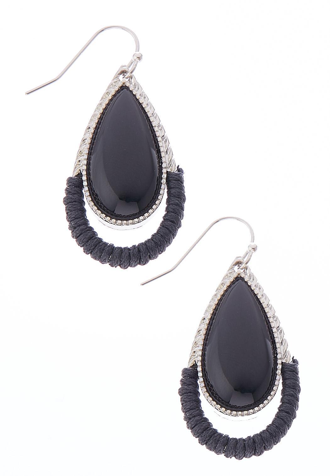 Acrylic Thread Wrapped Earrings