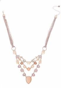 Rose Gold Layered Bib Necklace