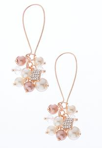 Blush Pearl Cluster Earrings