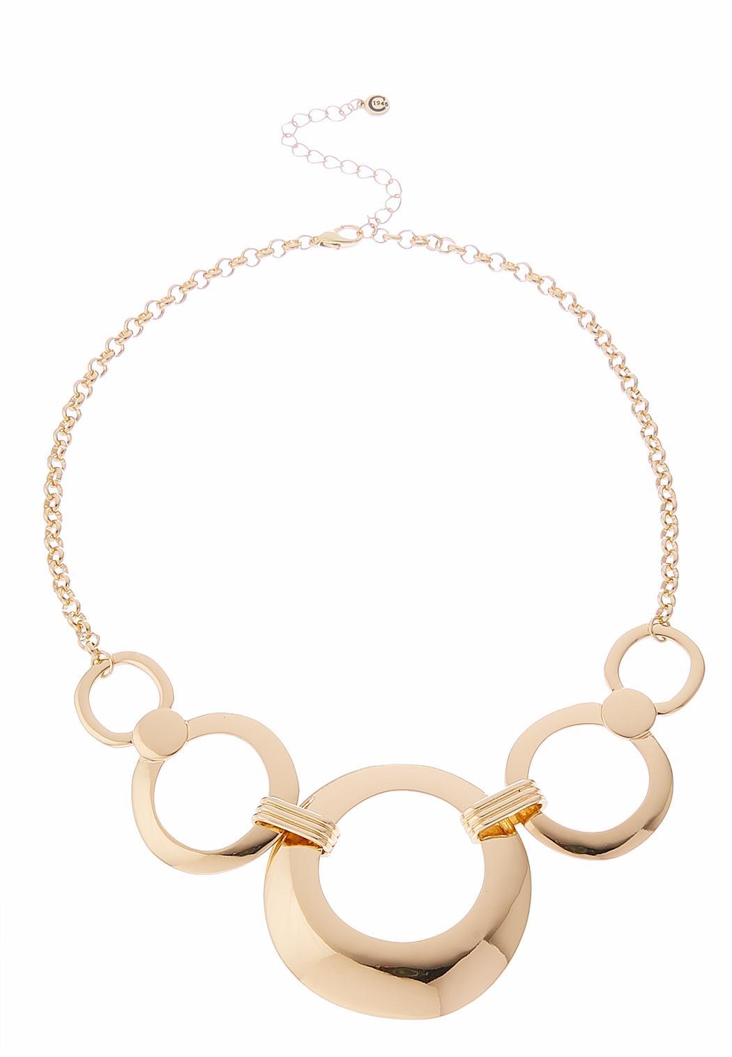 Chain Hoop Bib Necklace