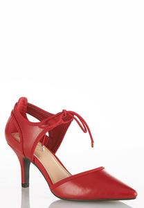 Ankle Tie Two Piece Pumps