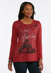 Plus Size Embellished Paris Hacci Top