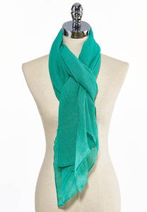 Pleated Solid Sheer Scarf