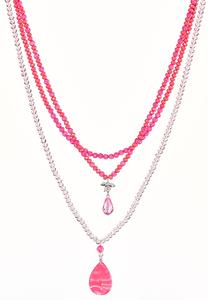 Pink Multi Layered Necklace