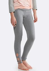 Cutout Lattice Leggings
