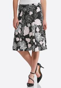 Puff Pink Floral Skirt