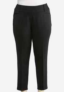 Plus Size Wide Band Pull-On Pants